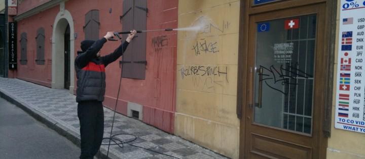 Odstranění graffity ze znečištěných fasád Brno