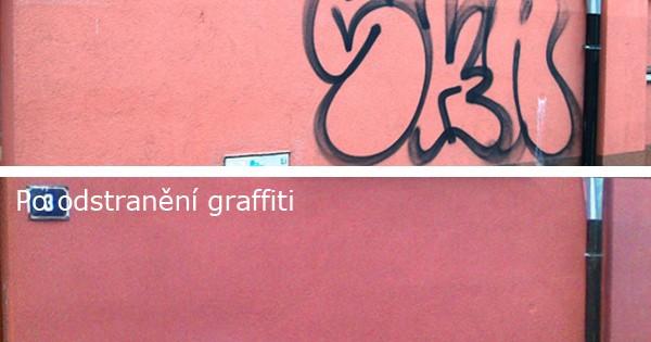 Odstranění graffiti z hladkých povrchů Brno