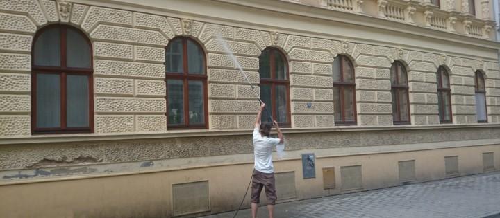 Mytí fasád vysokotlakou vodou Praha