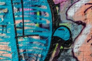 modré graffiti